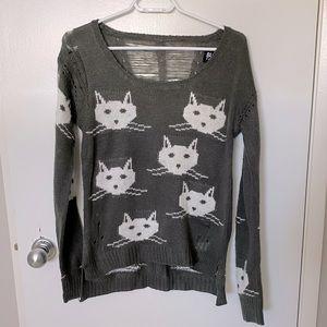 Buffalo David Bitton distressed cat sweater